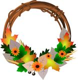 Halloween wreath Stock Photography