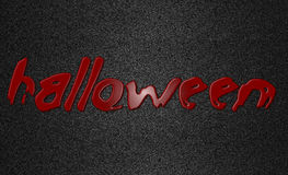 Halloween written in red blood Stock Photography