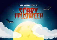 Halloween-Wunschkarte Lizenzfreie Stockfotos