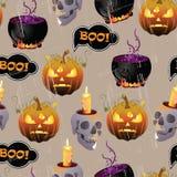 Halloween wzór ilustracji