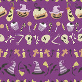 Halloween wzór 01 Zdjęcia Stock