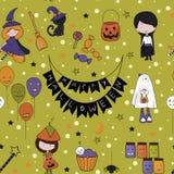 Halloween wzór Zdjęcie Royalty Free