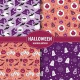 Halloween wzoru set Zdjęcia Royalty Free