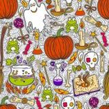 Halloween wzoru tło Fotografia Royalty Free