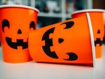 Halloween y concepto de la decoración imagen de archivo