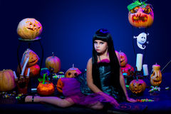 Halloween, young witch Royalty Free Stock Photography
