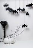 Halloween z nietoperzami i banią Obrazy Stock