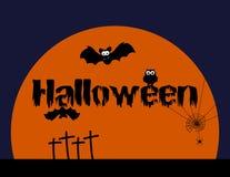 Halloween z zwierzętami, pomarańczowa ilustracja Fotografia Stock
