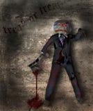 Halloween-Zahl mit Axt Stockbild