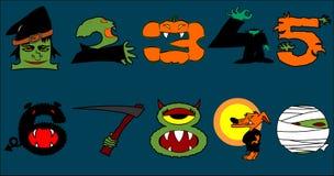 Halloween-Zahlen Lizenzfreie Stockfotografie