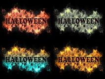 Halloween-Zeichen auf Feuer Lizenzfreie Stockfotos