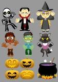 Halloween-Zeichensatz 1 Lizenzfreie Stockbilder