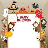Halloween-Zeichentrickfilm-Figur auf Rahmen Stockfotografie