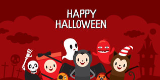 Halloween-Zeichentrickfilm-Figur auf Rahmen, Fahne Stockbilder
