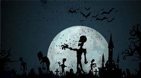 Halloween zombie background Royalty Free Stock Image