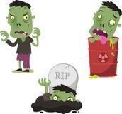 Halloween zombie cartoon action set Royalty Free Stock Photos