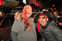 Halloween zombie crawl and parade Royalty Free Stock Photography