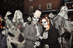 Halloween zombie crawl and parade Royalty Free Stock Images