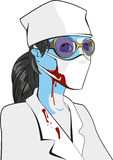 Halloween zombie doctor Stock Photography