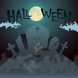 Halloween Zombie Invitation Royalty Free Stock Photos