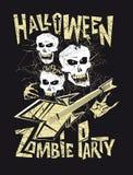 Halloween-Zombie-Partei lizenzfreie abbildung