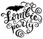 Halloween zombie party Stock Image
