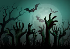 Halloween Zombie Party. Royalty Free Stock Image