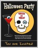 Halloween zombie party invitation Royalty Free Stock Photography