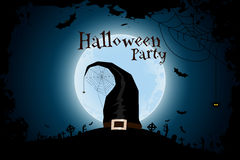 Halloween Zombie Party Poster with Hat Royalty Free Stock Photos