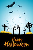 Halloween Zombie Party Poster. Royalty Free Stock Image