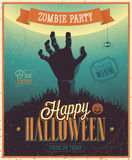 Halloween Zombie Party Poster. royalty free illustration