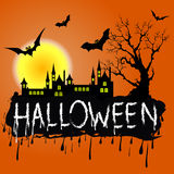 Halloween Zombie Party Poster. Vector illustration Royalty Free Stock Photos