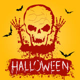 Halloween Zombie Party Poster. Vector illustration Stock Photography