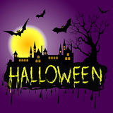 Halloween Zombie Party Poster. Vector illustration Royalty Free Stock Image