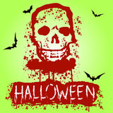 Halloween Zombie Party Poster. Vector illustration Royalty Free Stock Photography