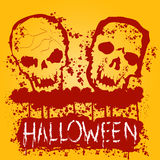 Halloween Zombie Party Poster. Vector illustration Royalty Free Stock Images