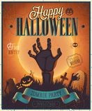 Halloween Zombie Party Poster. Royalty Free Stock Photo