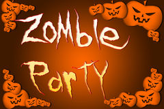 Halloween Zombie Party text on Background Royalty Free Stock Photos