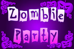 Halloween Zombie Party text on Background Stock Photo