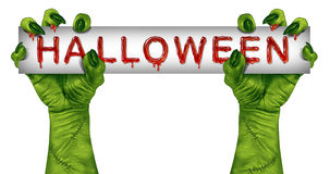 Halloween Zombie Sign Stock Photography