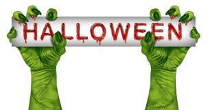 Halloween Zombie Sign Stock Photography