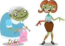 Halloween-zombiebeeldverhaal Stock Afbeeldingen