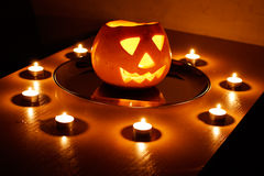 Halloween, zucca. Fotografie Stock