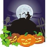 Halloween - zucche viziose Fotografia Stock