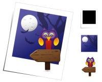 halloween zwierzęca scena royalty ilustracja