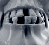 Halloween7. Ghoulish gargoyle teeth perfect for Halloween Stock Photo