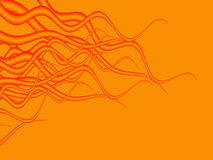 Halloween8. Tentacle like abstract in halloween colors Stock Images