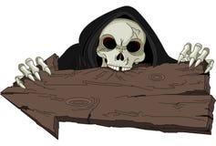 Halloweengrimmiger Reaper Stockfoto