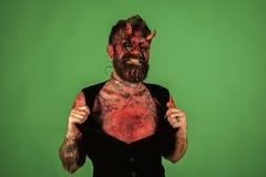 Halloweenowa agresja, zło, horroru pojęcie zdjęcie royalty free