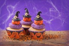 Halloweenowa babeczka Fotografia Stock